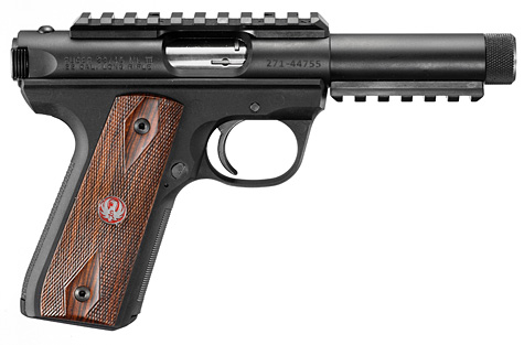 22 Handgun With Silencer http://ncsilencer.blogspot.com/2011/01/new-ruger-2245-threaded-barrel-rimfire.html