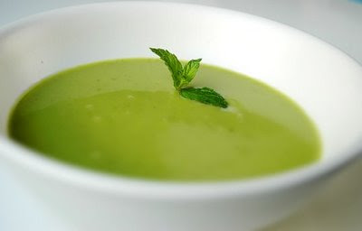 the summer i fell in love with this cool and creamy chilled pea soup ...
