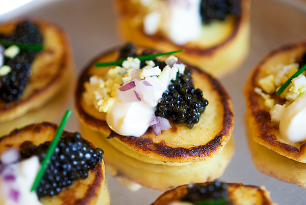 Scrumpdillyicious caviar and blinis for How to prepare caviar