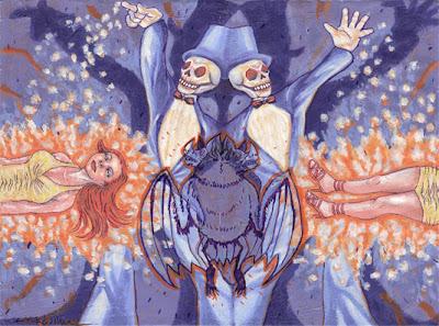 Skeleton illustration created by artist Melissa Kojima on Illustration Pages