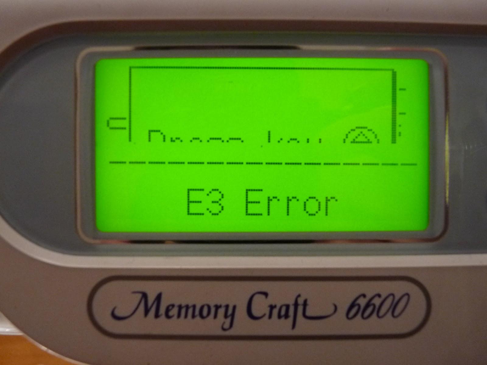 sewing machine e1 error