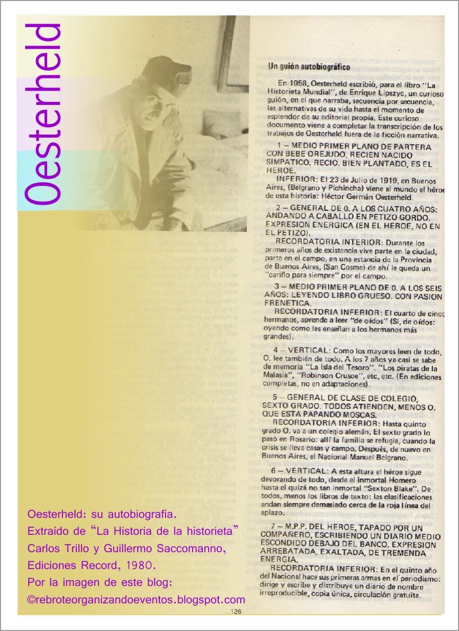 Oesterheld: autobiografía + el comic