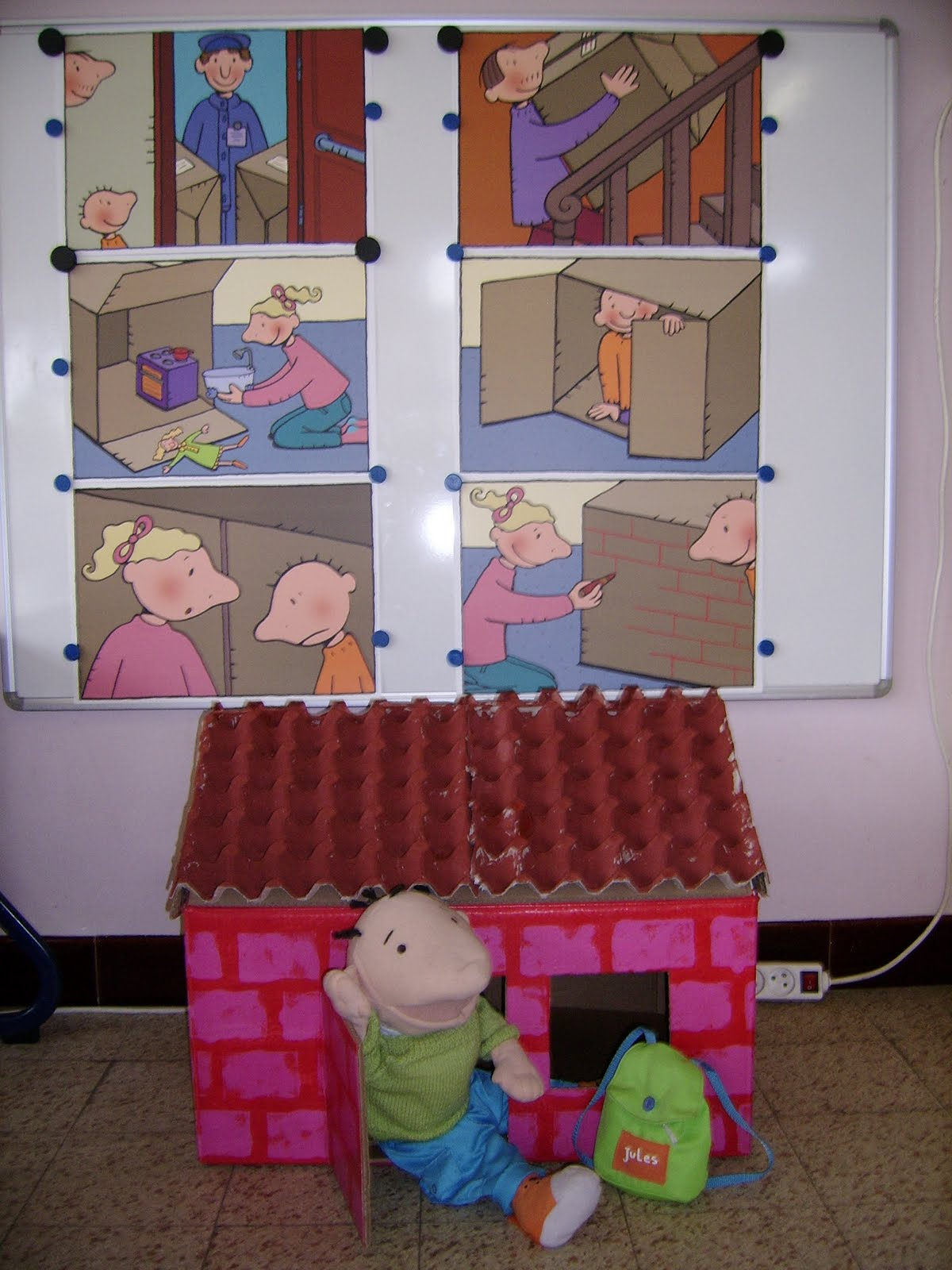 Pompom klas de klinker het huis van jules - Maken rode verf ...