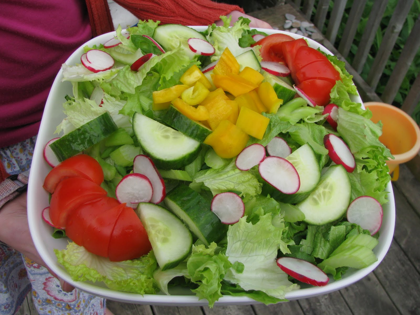 today i am posting a true garden salad complete with fresh green leaf ...