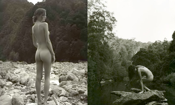 """""""Top model"""" se desnudó en medio del bosque"""
