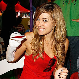 Lauren Conrad, reality-TV star, signs a three-book deal with Harper. Pictured here with her ghost writer.