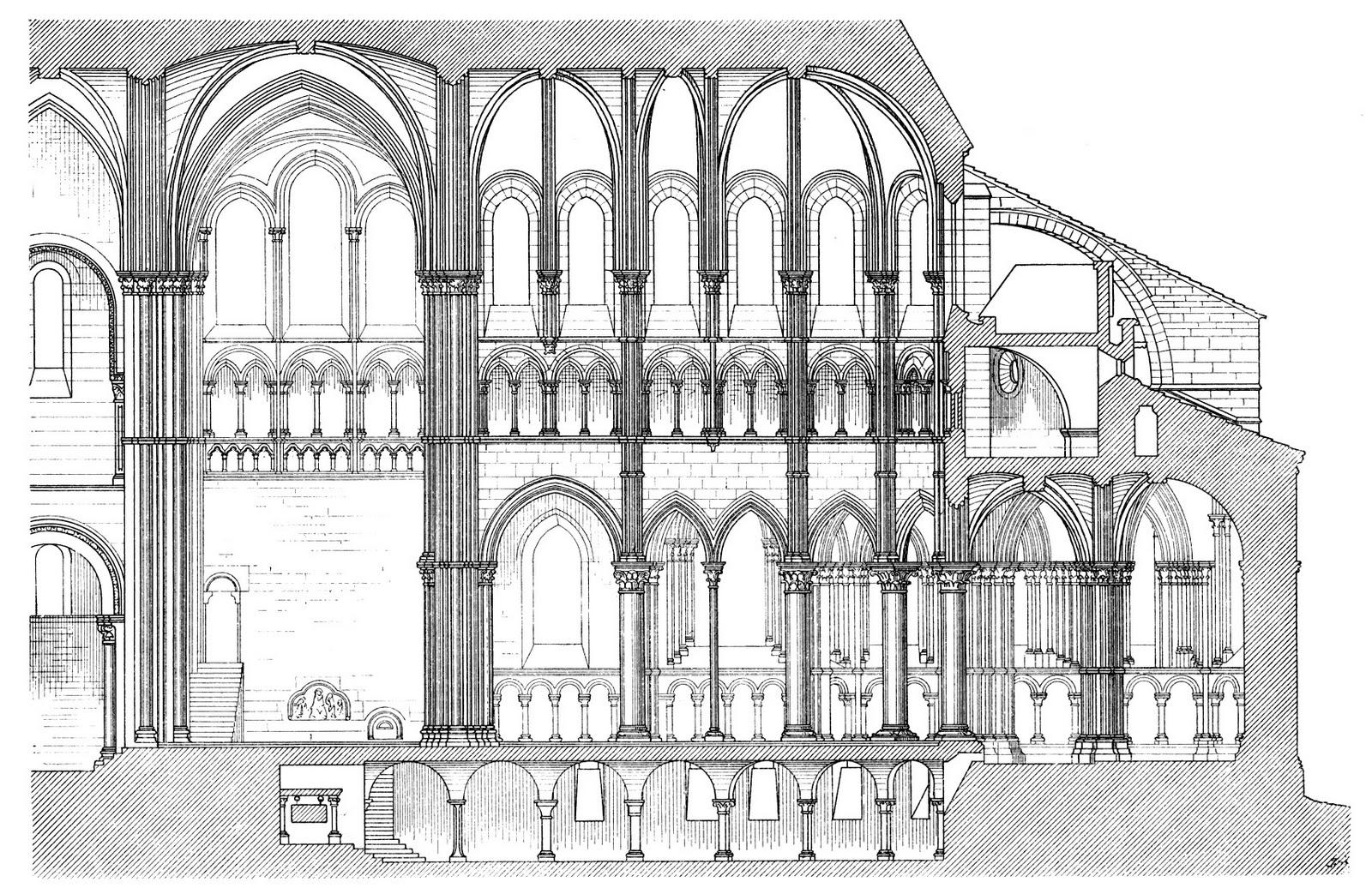 Arch Ste Madeleine V 233 Zelay France 1146 Ce Romanesque