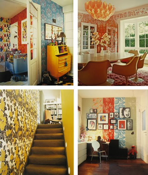 The Book Shows Some Great Examples Of How You Can Use Wallpaper In Different  Ways   And Some People Have Been Really Bold With Their Choices Of Patterns  And ... Images