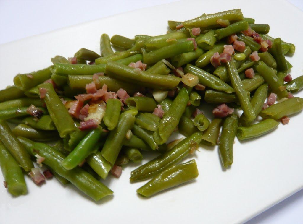 Mery a dieta con pp judias verdes con jamon serrano y - Calorias de las judias verdes ...