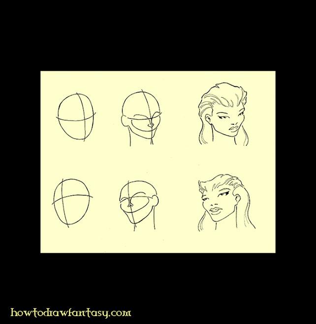 Apprendre-à-dessiner-le-visage-d'une-femme