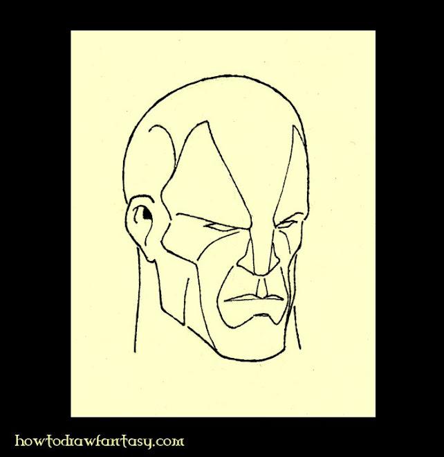 2 eme exemple de 3d des formes pour apprendre comment dessiner un visage