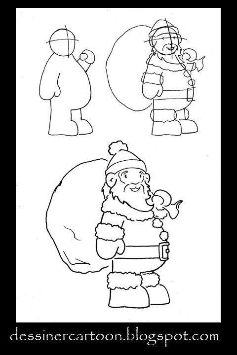 Dessiner cartoon november 2009 - Dessiner le pere noel ...
