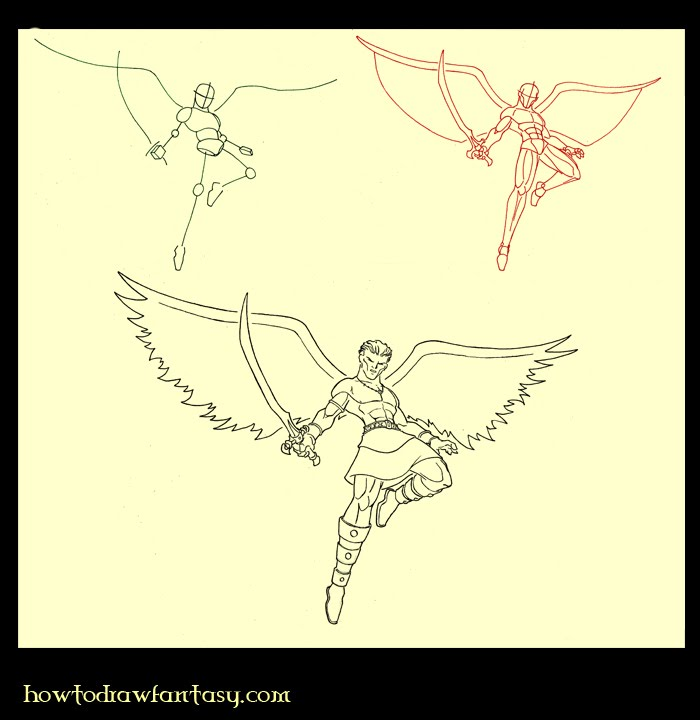 How to Draw Warrior Angels