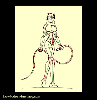 Learn to sketch Catwoman the DC superheroin