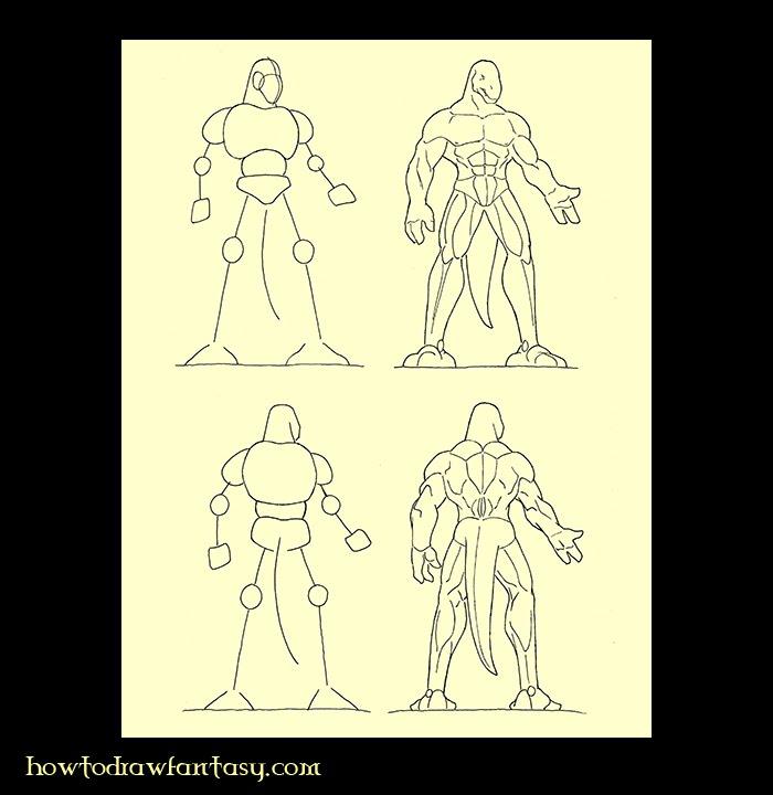 comment dessiner un être humain