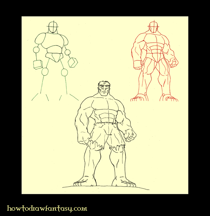 How to Draw the Incredible Hulk. LEARNING TO DRAW THE INCREDIBLE HULK