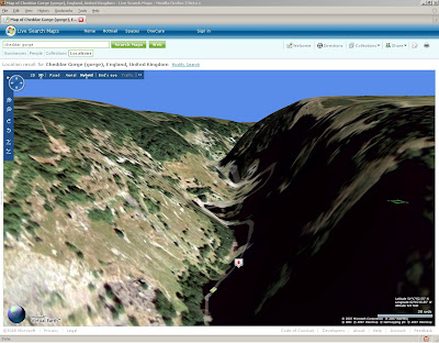 Cheddar Gorge 3D View Live Maps