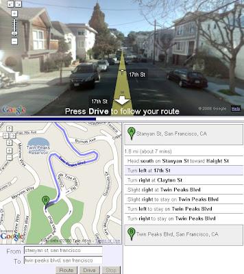 Google Maps API StreetView Drive