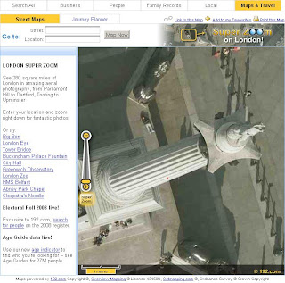 192.com Maps Super Zoom Nelsons Column Trafalgar Square