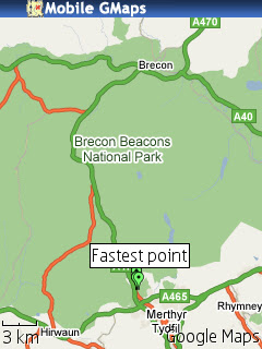Brecons Track KML MGMap