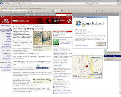 IE8 Map Live Geocoding