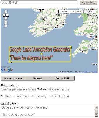 Google Maps Labels Annotation Generator