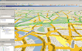 Google Maps Rotated in Google Earth London