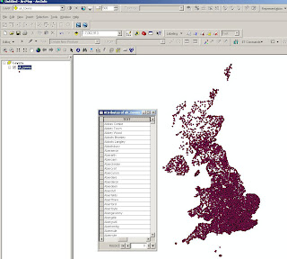 UK towns in British National grid arcmap