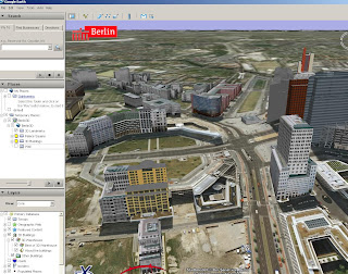 Berlin in 3D Google Earth