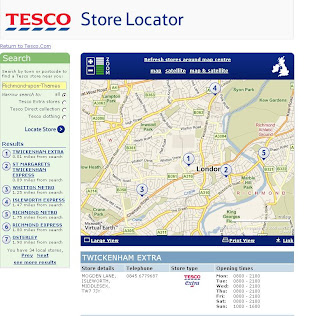 Tesco Map