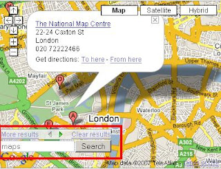 Embedded AJAX API Local Search Control in Google Map