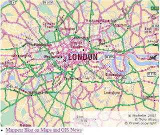 Michelin Maps API - London Map