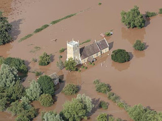 Tirley flooding near Tewkesbury