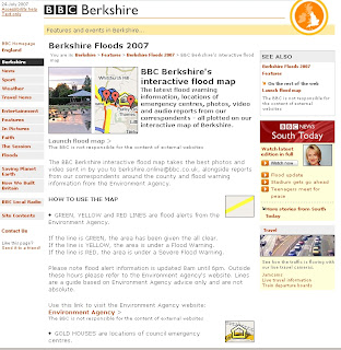 BBC Berkshire's Interactive Flood Map