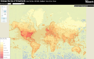 Hotmap Virtual Earth Users