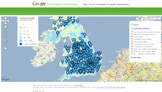 Google UK - The Carbon Footprint Project Map