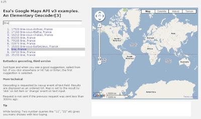 Google Esa Geocoder Suggests