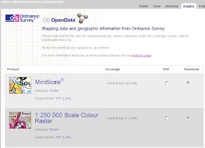Ordnance Survey Open Data Download