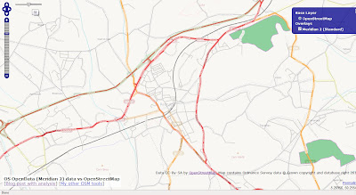 OSM compare with OS Opendata Meridian2