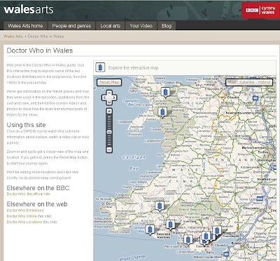 Explore Doctor Who in Wales using Bing Maps