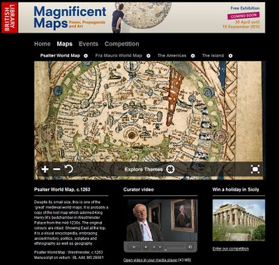 Magnificent Maps British Library London UK