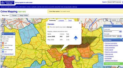 Metropolitan Police Crime Mapping TEST SITE
