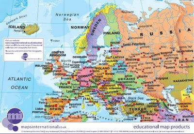 Maps International Educational Free Maps - Europe