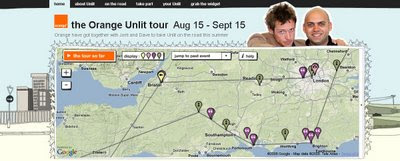 Orange Unlit Tour Map