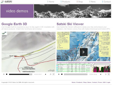 SatSki Google Earth Demo