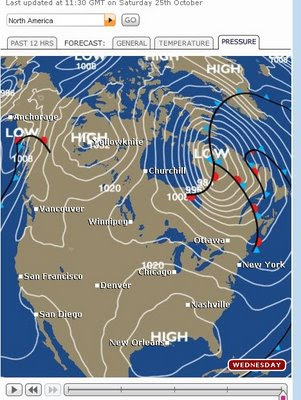 New BBC Weather Beta - North America Pressure Maps