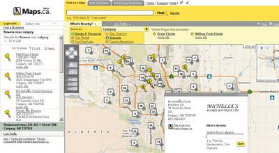 Yellow Pages Canada Maps English (Beta)
