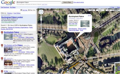 Google Maps in Internet Explorer 8 RC1