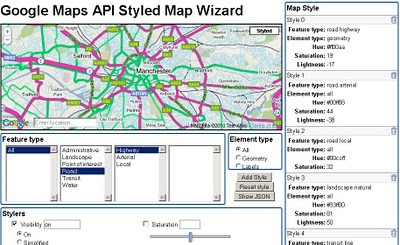 Google Maps API Styled Map Wizard bad carto