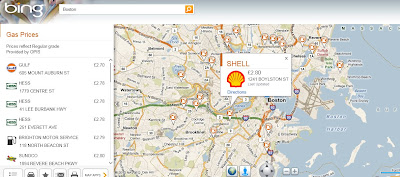 Bing Maps Gas App